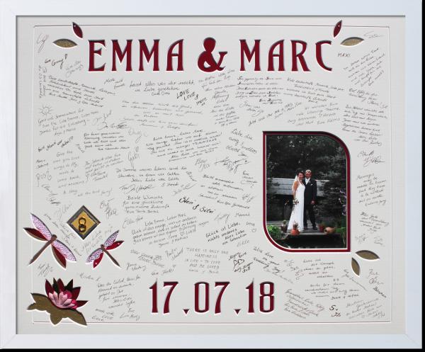 Gästebuch Emma und Marc fertig