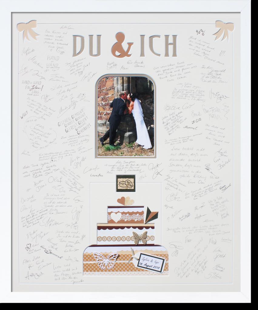 Du Ich Grosses Edles Gastebuch Mit Hochzeitstorte Namen Und Datum