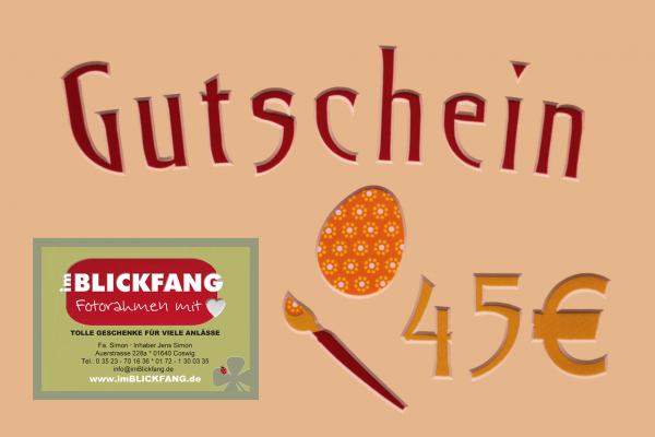 Gutschein 45 Euro