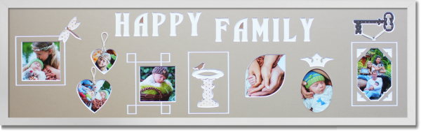 Rahmen lang Happy Family