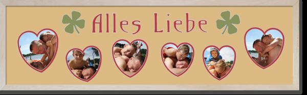 alles Liebe 6 Herzen NEU mit Familie